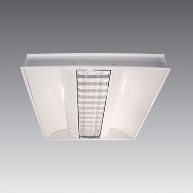 Recessed Fluor / LED Louvre DBL Soft Reflector